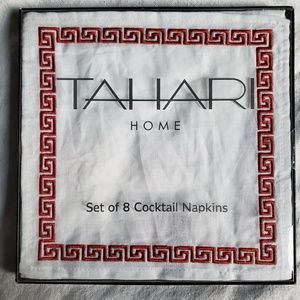 New TAHARI cocktail Napkins, set of 8